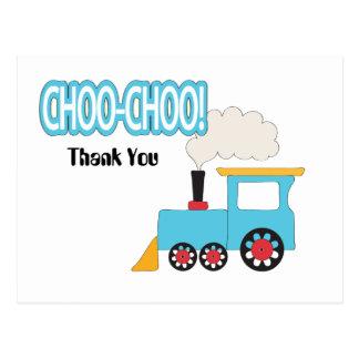 Cartão Postal Obrigado do trem de Choo Choo você