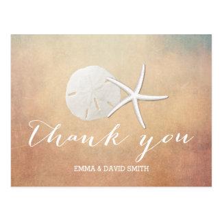 Cartão Postal Obrigado elegante do dólar da estrela do mar & de