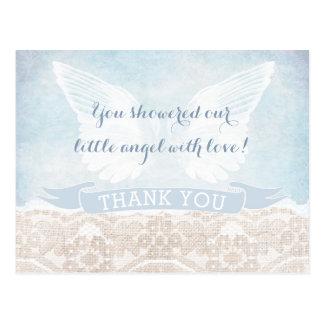 Cartão Postal Obrigado enviado céu você nota o comunhão do chá
