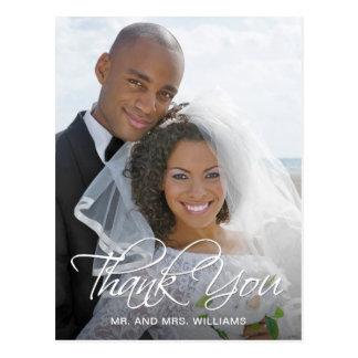 Cartão Postal Obrigado favorito da foto do casamento você