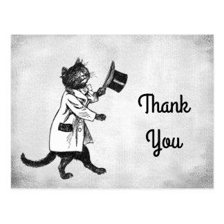 Cartão Postal Obrigado feito sob encomenda do gato legal do