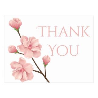Cartão Postal Obrigado floral você pica o partido da flor da