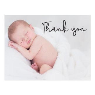 Cartão Postal Obrigado o anúncio do nascimento e do bebê, texto