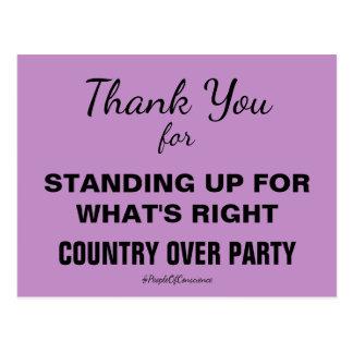 Cartão Postal Obrigado país sobre a resistência do partido