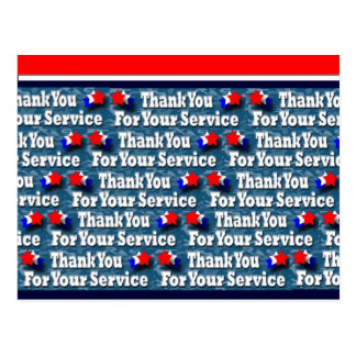 Cartão Postal Obrigado para seu serviço