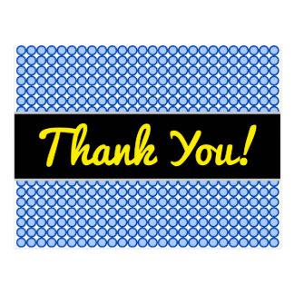 """Cartão Postal """"Obrigado!"""" + Pontos/cartão azuis teste padrão dos"""