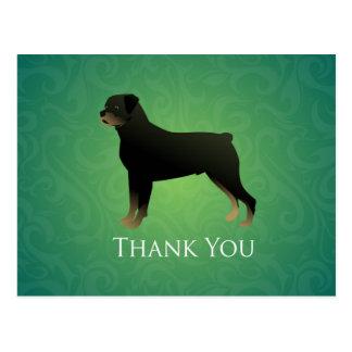 Cartão Postal Obrigado que de Rottweiler você projeta