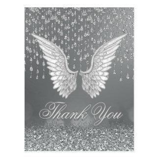 Cartão Postal Obrigado rasgos da prata de |