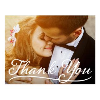 Cartão Postal Obrigado roteiro bonito do rico do casal da foto