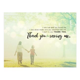 Cartão Postal Obrigado salvar me