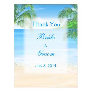 Cartão Postal Obrigado sonhador do casamento de praia você