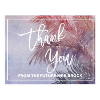 Cartão Postal Obrigado tropical do por do sol você