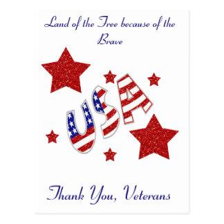 Cartão Postal Obrigado veteranos