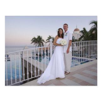 Cartão Postal obrigado wedding você
