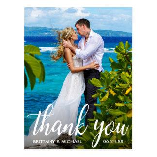 Cartão Postal Obrigado Wedding você foto do noivo da noiva