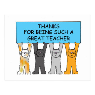 Cartão Postal Obrigados para ser tais gatos de uns desenhos