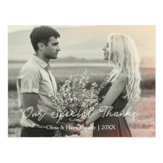 Cartão Postal Obrigados | que Wedding & obrigado do noivado você
