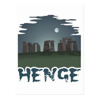 Cartão Postal Obscuridade pelo luar misterioso: Stonehenge