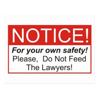 Cartão Postal Observação/advogado
