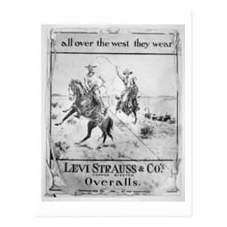 Cartão Postal Observe para Levi Strauss & Co, c.1900 (o litho)