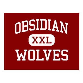 Cartão Postal Obsidiana - lobos - escola secundária - Redmond