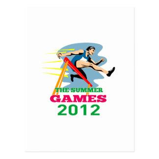 Cartão Postal Obstáculos 2012 do atletismo dos jogos do verão