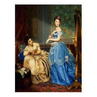 Cartão Postal Obtendo vestido, 1869