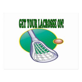 Cartão Postal Obtenha seu Lacrosse sobre