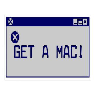 Cartão Postal Obtenha um Mac!