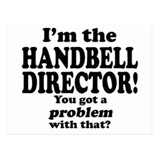 Cartão Postal Obteve um problema com esse, diretor do Handbell