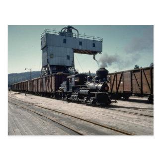 Cartão Postal OBW locomotiva de um Shay de 18 toneladas