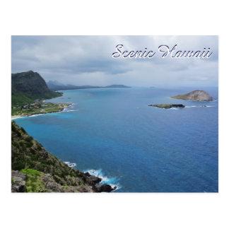 Cartão Postal Oceano cénico das montanhas da ilha de Havaí