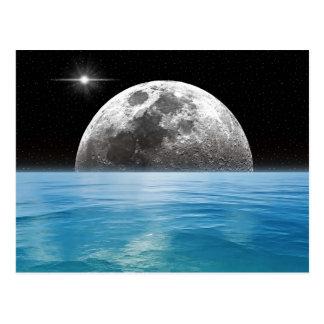Cartão Postal Oceano da lua