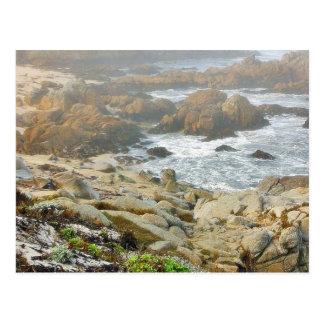 Cartão Postal Oceano nevoento das praias
