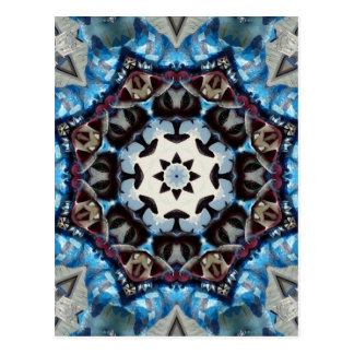 Cartão Postal Octagon K186 azul extravagante
