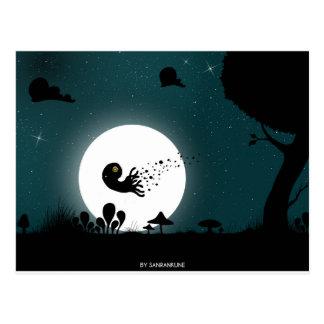 Cartão Postal Octopuce da noite