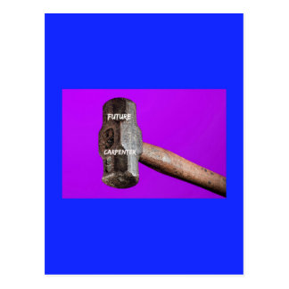 Cartão Postal Ocupações: Design futuro do malho do carpinteiro
