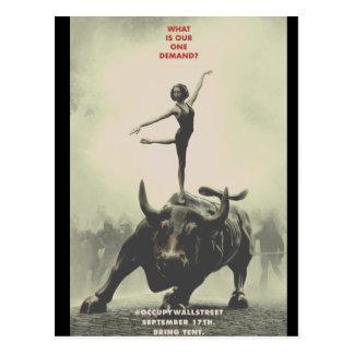 Cartão Postal Ocupe Wall Street 2011 coleccionável