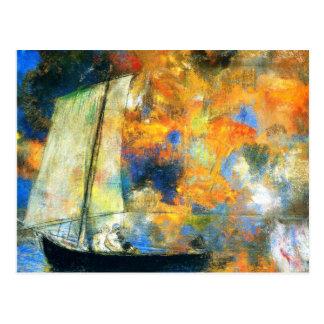 Cartão Postal Odilon Redon - nuvens da flor
