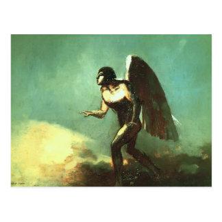 Cartão Postal Odilon Redon- o homem voado (o anjo caído)