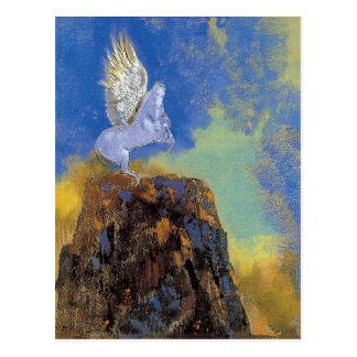 Cartão Postal Odilon Redon Pegasus - simbolismo da mitologia