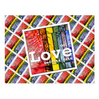 Cartão Postal Ódio das derrotas do amor do arco-íris da natureza