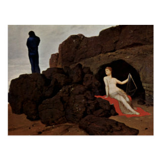 Cartão Postal Odysseus e calipso