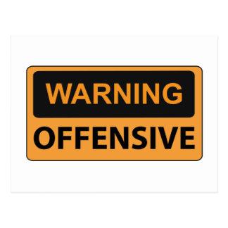 Cartão Postal Ofensiva de advertência