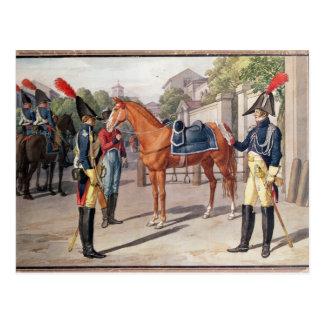 Cartão Postal Oficial e guarda da guarda real em 1826