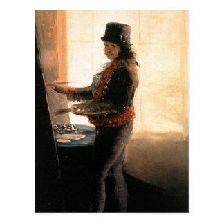 Cartão Postal Oficina do retrato de auto - Francisco de Goya