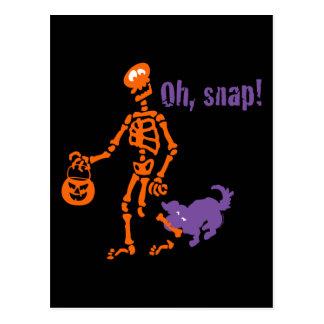Cartão Postal Oh, esqueleto instantâneo