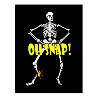 Cartão Postal Oh pressão, o Dia das Bruxas de esqueleto