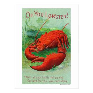 Cartão Postal Oh você cena da lagosta