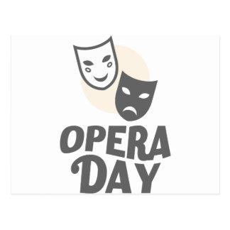 Cartão Postal Oitavo fevereiro - dia da ópera - dia da